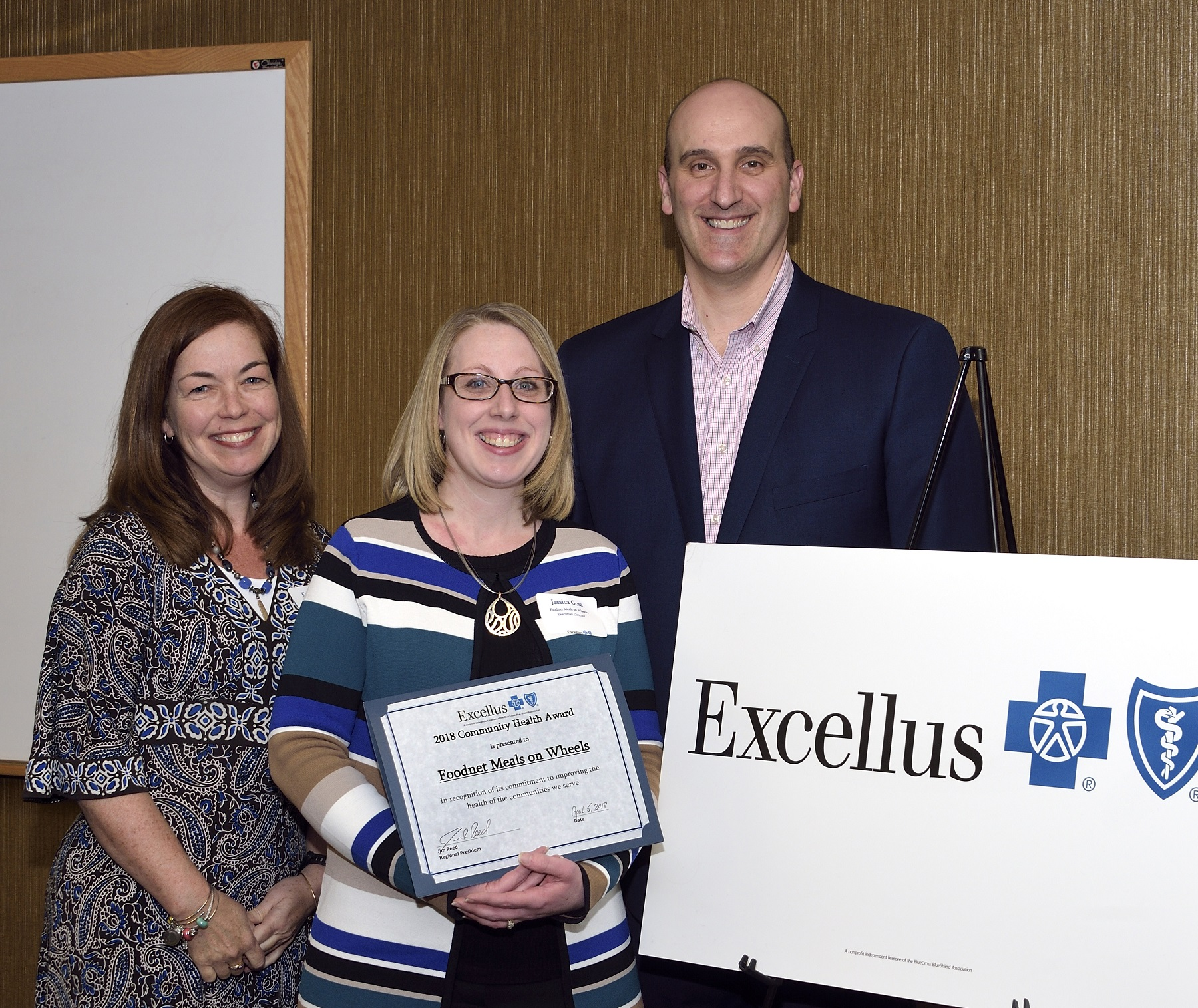 Foodnet Receives an Excellus BlueCross BlueShield Community Health Award